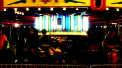 Surreal Night Carousel At Carnival 1 (Dark) Stock Footage
