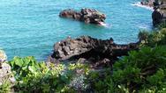 Maui Black Sand Tropical Beach Hi Angle 3 Stock Photos