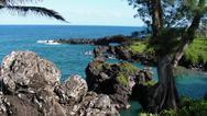Maui Black Sand Tropical Beach Hi Angle 5 Stock Photos