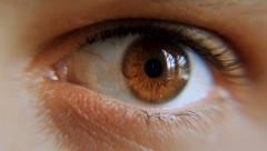 Eye Male 1 Nervous Stock Footage