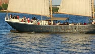 Stock Video Footage of Sailing at sunset