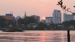 sunset riverside - stock footage