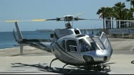 Helicopter is ready for departure Stock Footage