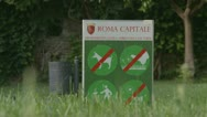 (Capitale Roma - 1) No dogs, stay off the grass, littering, picking flowers, Stock Footage