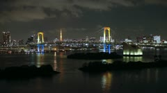 Japan, Tokyo, nightscape T/L Stock Footage