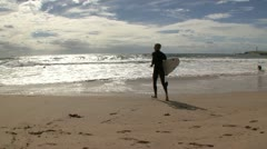Surfing in Australia Stock Footage