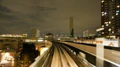 Japan, Tokyo, train POV T/L Stock Footage