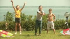 Summertime sunshower - stock footage