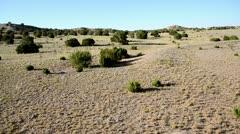 Hot Air Balloon Desert Aerial 4 Stock Footage