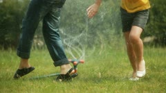 Sprinkler system Stock Footage