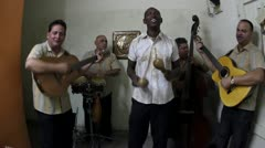 Music band cuba havana Stock Footage