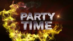 PARTY TIME Text in Particle (Double Version) Red - HD1080 Stock Footage