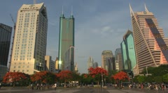 Shenzhen CBD by day, China Stock Footage