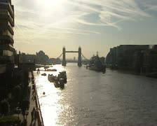 London goes to work - stock footage