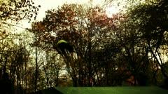 Bike stunt in slow motion Stock Footage
