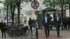 Londoners on Bond Street - stock footage