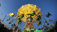 Stock Video Footage of Chairoplane Oktoberfest