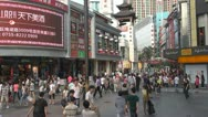Stock Video Footage of Tourists visit Dong Men Shopping District, Shenzhen, China