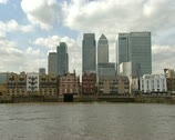 London Skyline Stock Footage