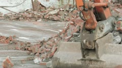 Demolition site clearance - stock footage