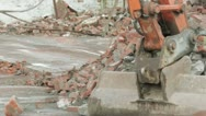 Stock Video Footage of Demolition site clearance