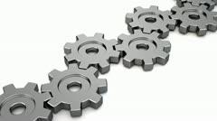 gears loop animation fin - stock footage