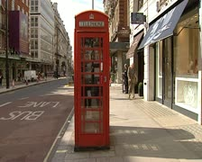London red telephone box - stock footage