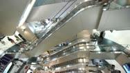 Shopping Mall Escalators Stock Footage
