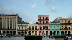 Havana cuba colorful buildings Stock Footage