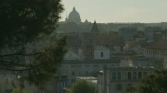 St Peters dome in background (chimney foreground) - stock footage