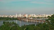 Bridge Across the Dnieper Stock Footage