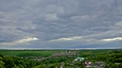 Kamianets-Podilskyi Castle, Timelapse Stock Footage