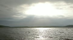 Sunbeams Over Dniester Stock Footage