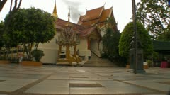 Temple Grounds in Thailand Stock Footage