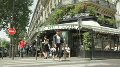 Cafe de Flore, Saint germain des pres, Paris, France Stock Footage