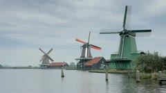 Holland, Amsterdam, windmills Stock Footage