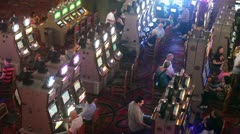 Casino Las Vegas, shot from above Stock Footage