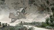 Stock Video Footage of Mining operation Gypsum mine rock crusher P HD 0357