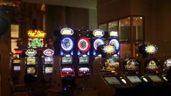 Casino pan Las Vegas with sound Stock Footage