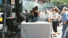 Ottawa Ribfest Booth Stock Footage