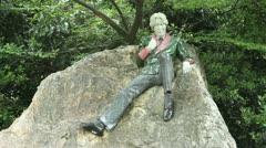 Oscar Wilde, Marrion Square Park, Dublin Stock Footage