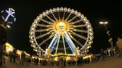 Ferry Wheel Timelapse Oktoberfest Stock Footage