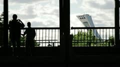 Montreal Holaga-Maisonneuve silhouettes Stock Footage