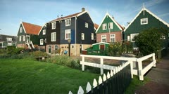 Holland, village houses Stock Footage
