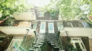Stock Video Footage of Montreal Holaga-Maisonneuve curved staircase
