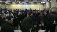 During Auction at Tsukiji Fish Market Stock Footage