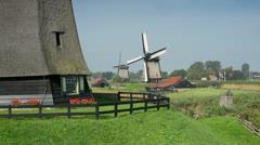 Holland, Schermerhorn, windmill - stock footage