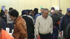 Between auctions at Tsukiji Fish Market Stock Footage