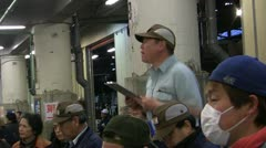 Auction at Tsukiji Fish Market Stock Footage