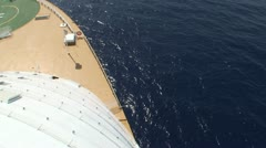 Cruise Ship: Ships Bow Starboard Side Looking Down Stock Footage